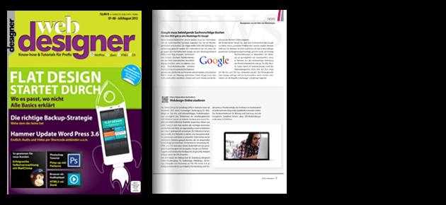 Webdesigner online das magazin für webdesigner und webentwickler